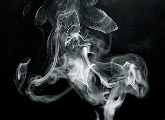 Candle smoke by Jonathan Godwin