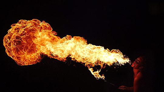 Fire breather by Jorge Pinhero